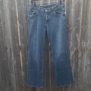 Lucky button fly boot cut jeans